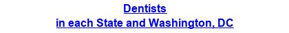Dentists in each State and Washington, DC